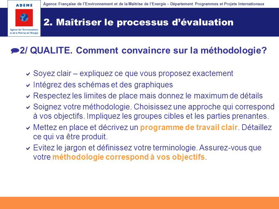 2. Maîtriser le processus d'évaluation