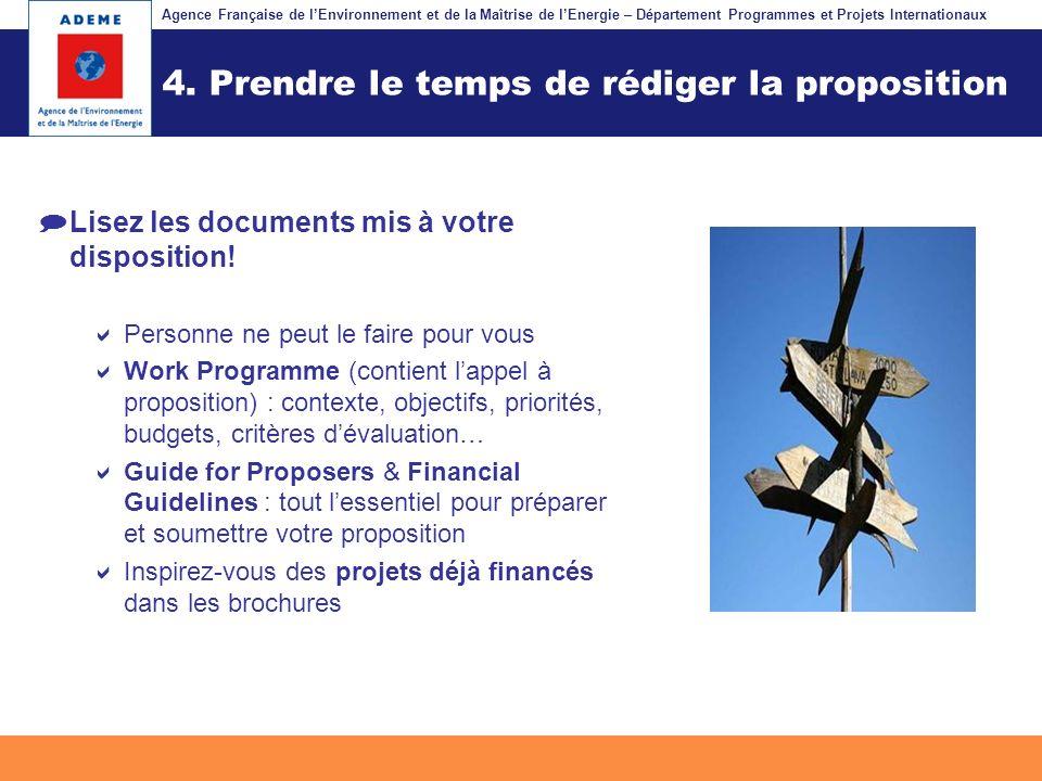 4. Prendre le temps de rédiger la proposition