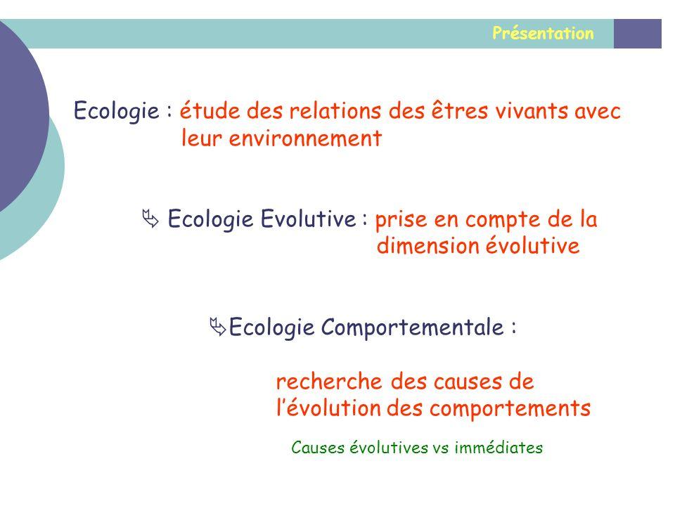 Ecologie : étude des relations des êtres vivants avec