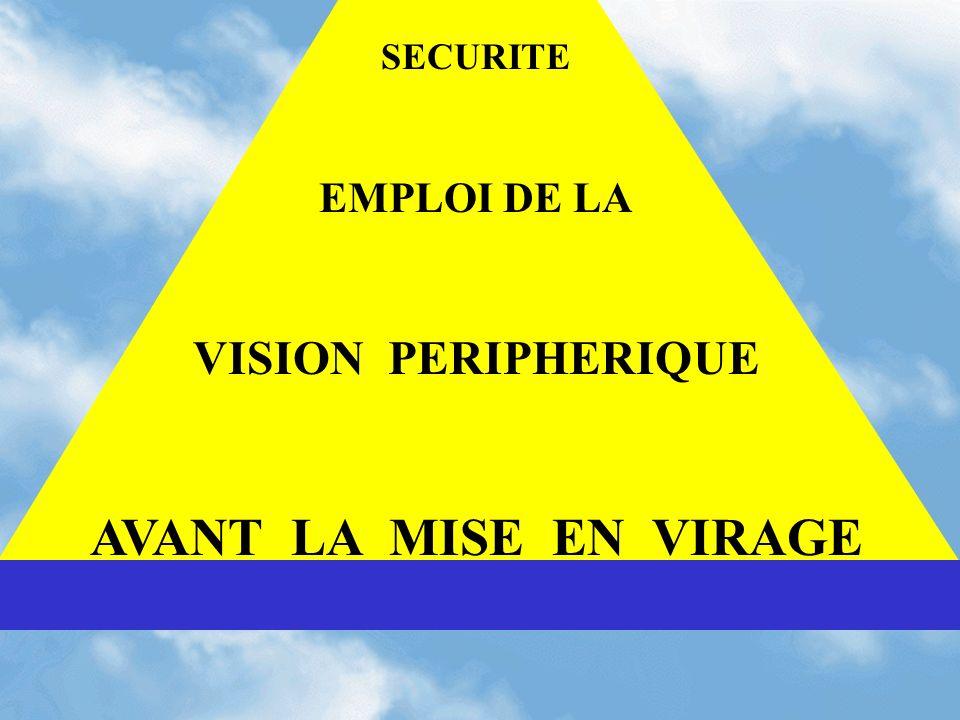 SECURITE EMPLOI DE LA VISION PERIPHERIQUE AVANT LA MISE EN VIRAGE