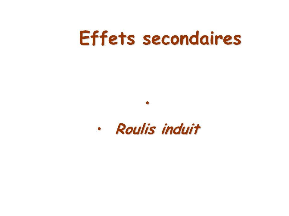 Effets secondaires Roulis induit