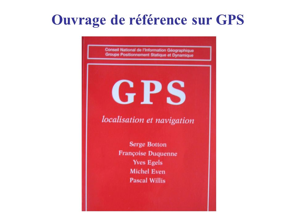 Ouvrage de référence sur GPS