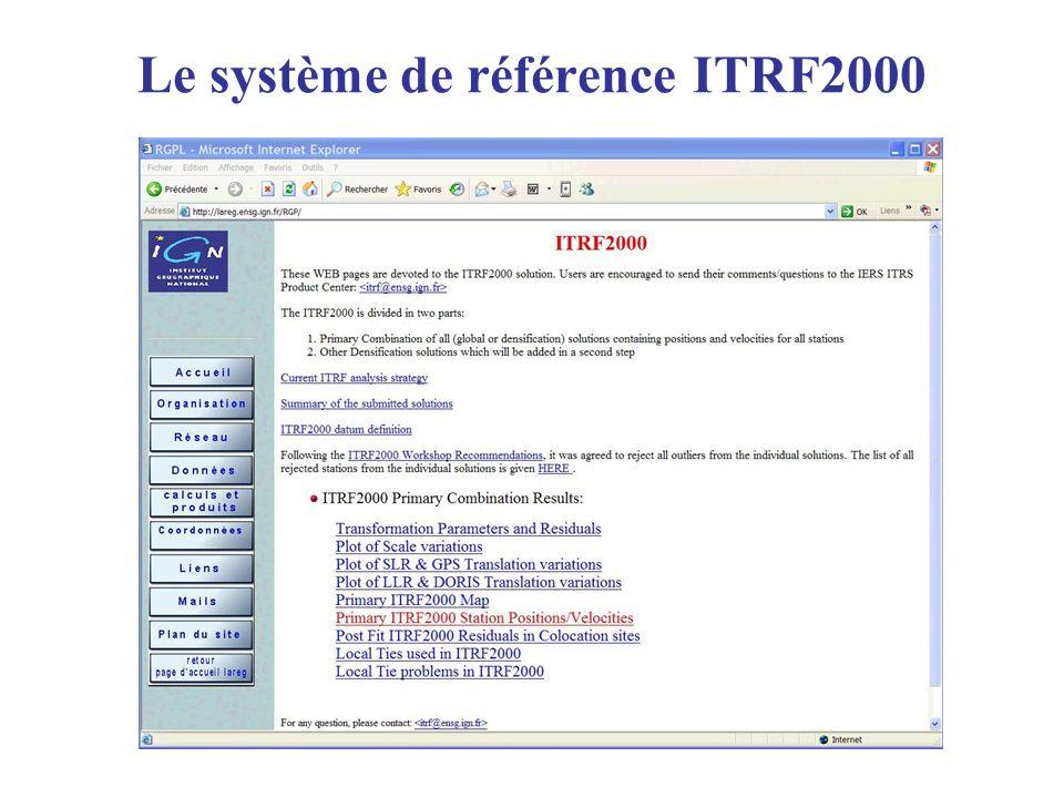 Le système de référence ITRF2000