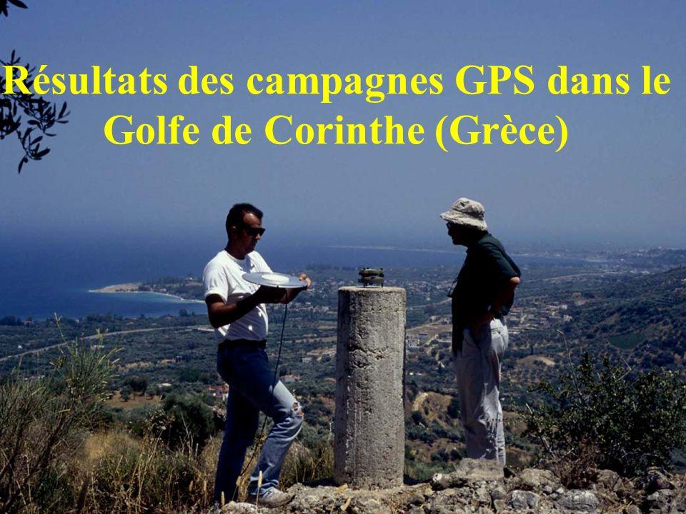 Résultats des campagnes GPS dans le Golfe de Corinthe (Grèce)