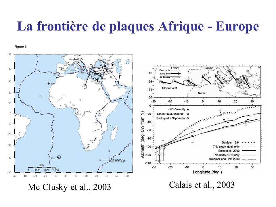 La frontière de plaques Afrique - Europe