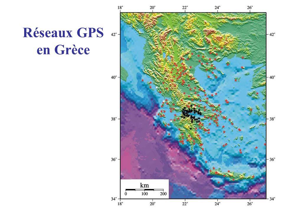 Réseaux GPS en Grèce