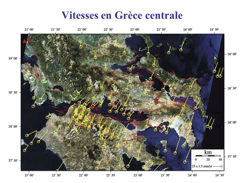 Vitesses en Grèce centrale
