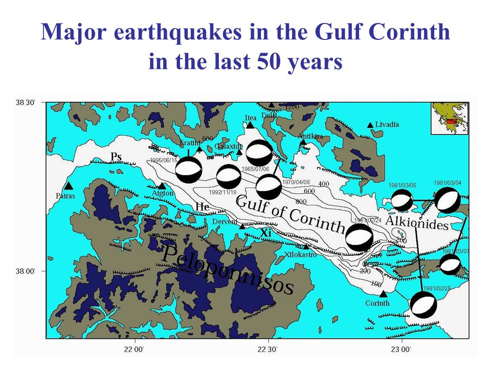 Major earthquakes in the Gulf Corinth in the last 50 years