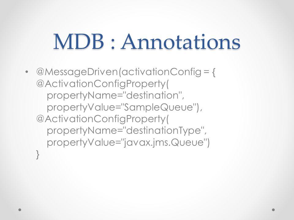 MDB : Annotations