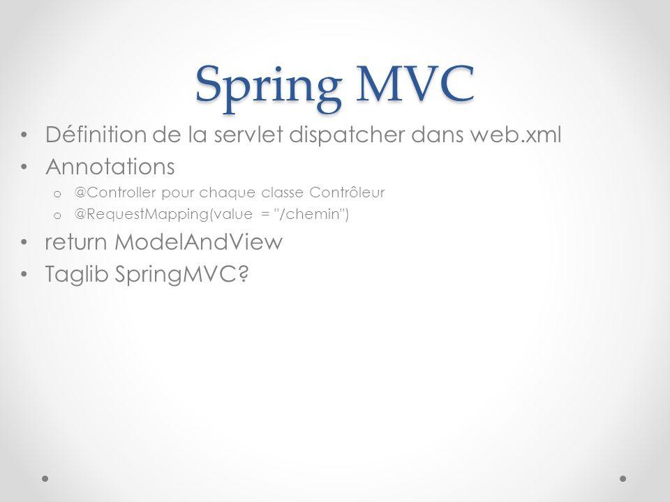 Spring MVC Définition de la servlet dispatcher dans web.xml
