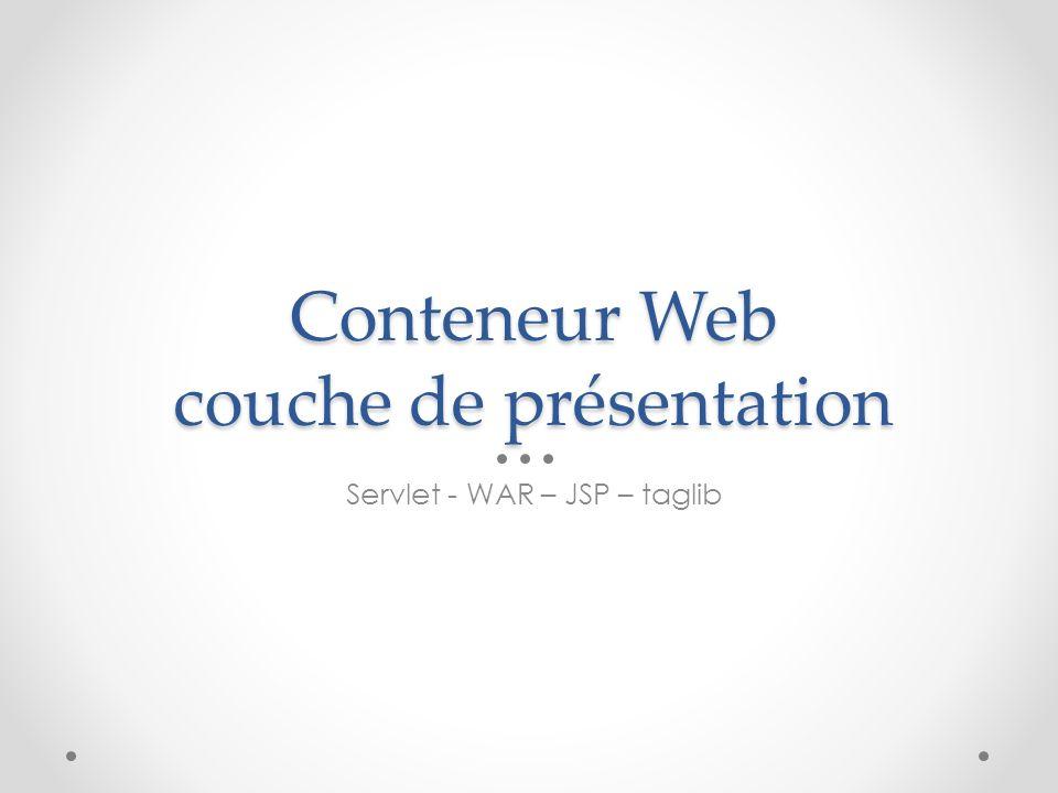 Conteneur Web couche de présentation
