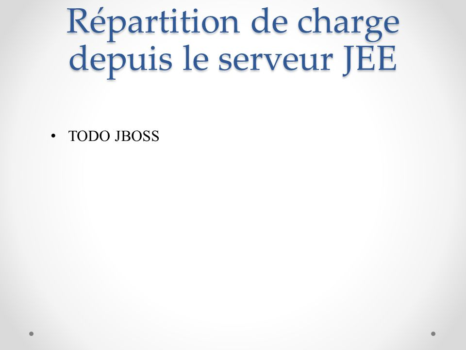Répartition de charge depuis le serveur JEE