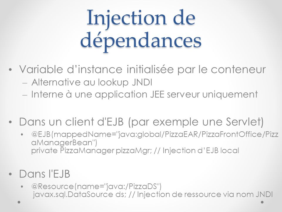Injection de dépendances