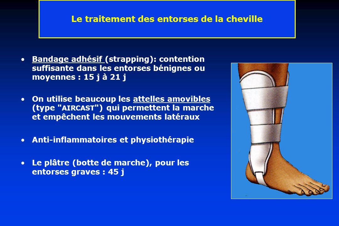 Le traitement des entorses de la cheville