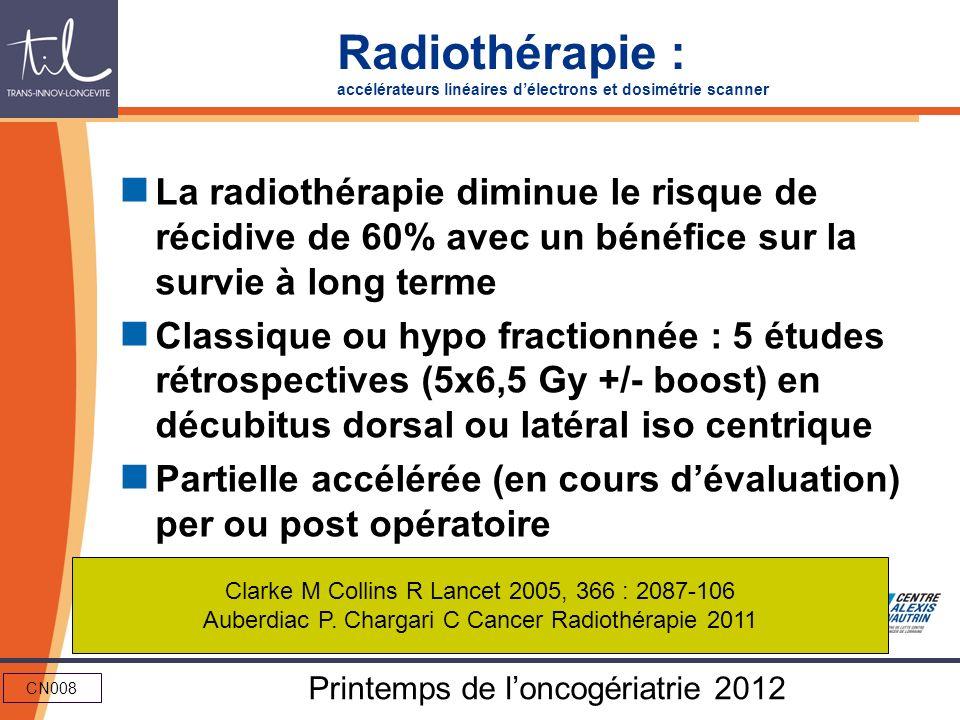 Radiothérapie : accélérateurs linéaires d'électrons et dosimétrie scanner