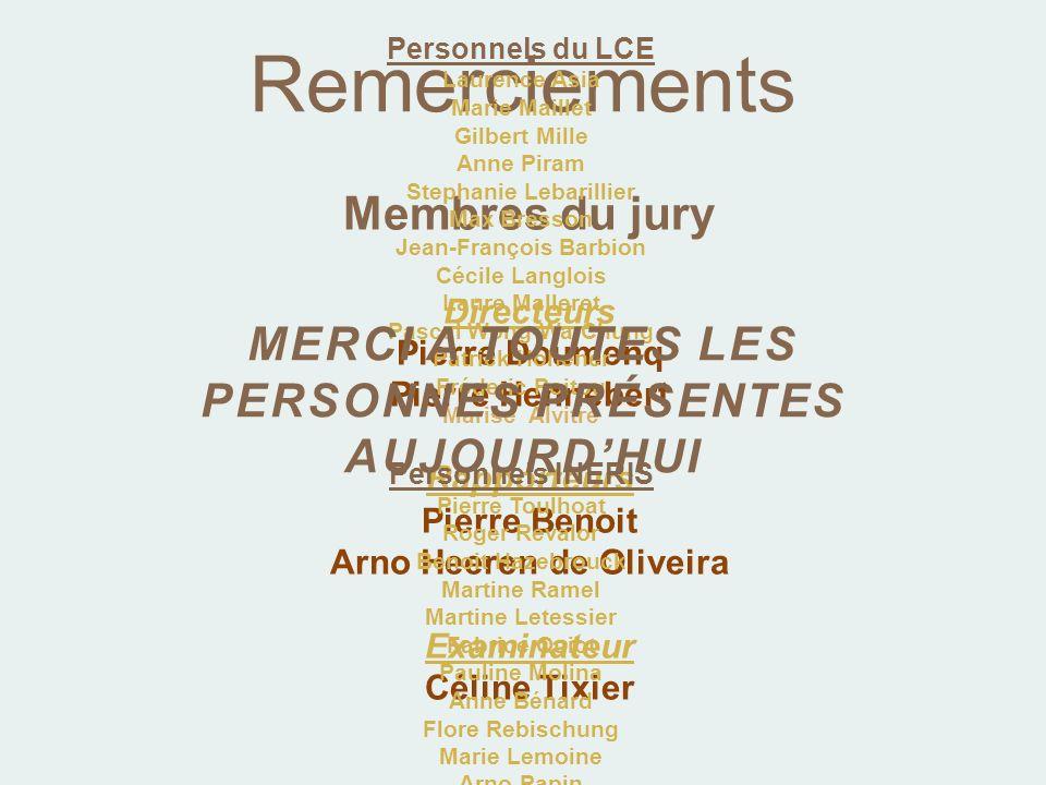 Remerciements Membres du jury