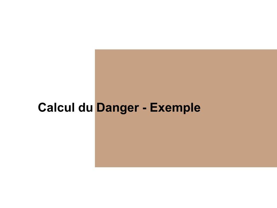 Calcul du Danger - Exemple