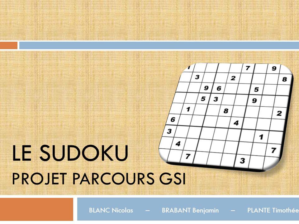 LE Sudoku Projet Parcours GSI