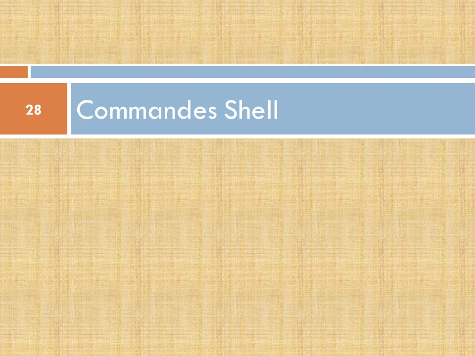 Commandes Shell