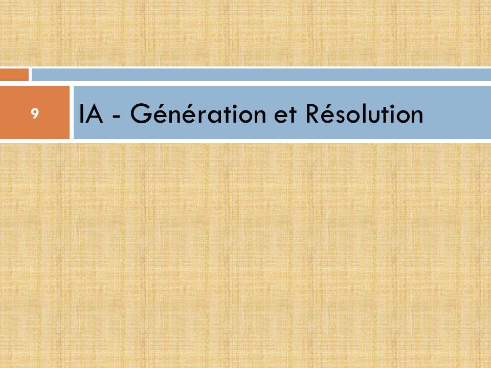 IA - Génération et Résolution