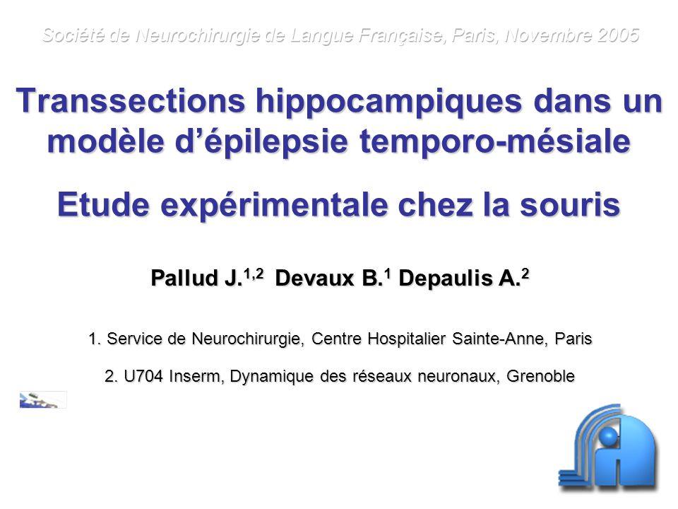Pallud J.1,2 Devaux B.1 Depaulis A.2