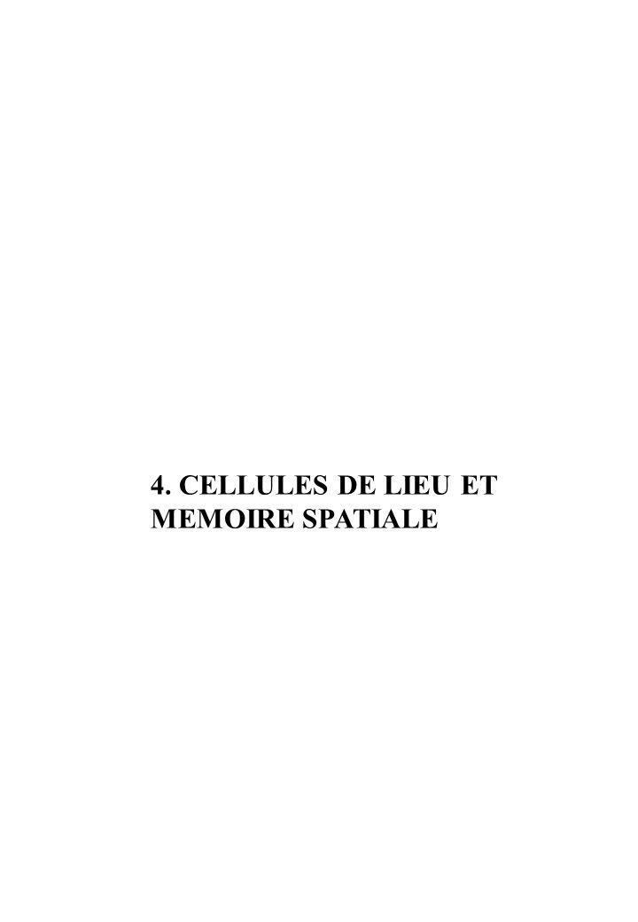 4. CELLULES DE LIEU ET MEMOIRE SPATIALE