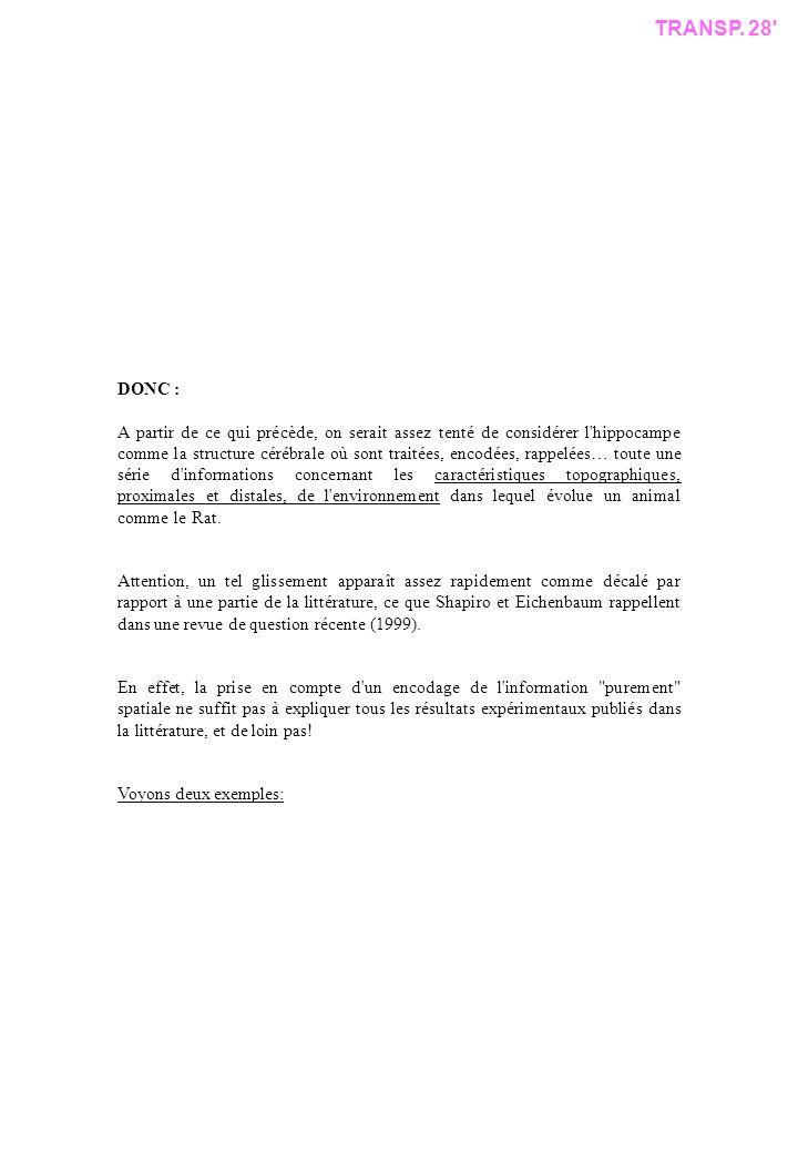 TRANSP. 28 DONC :