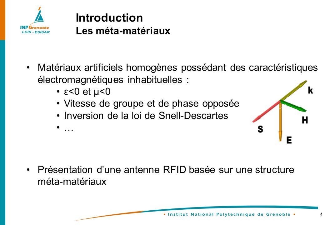 Introduction Les méta-matériaux