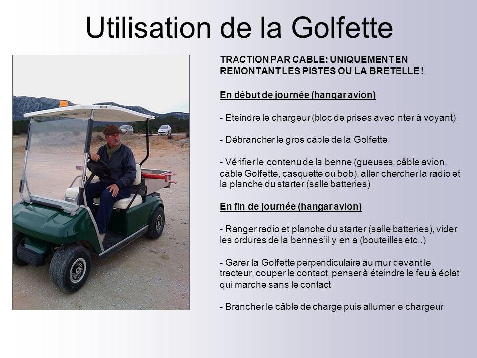 Utilisation de la Golfette