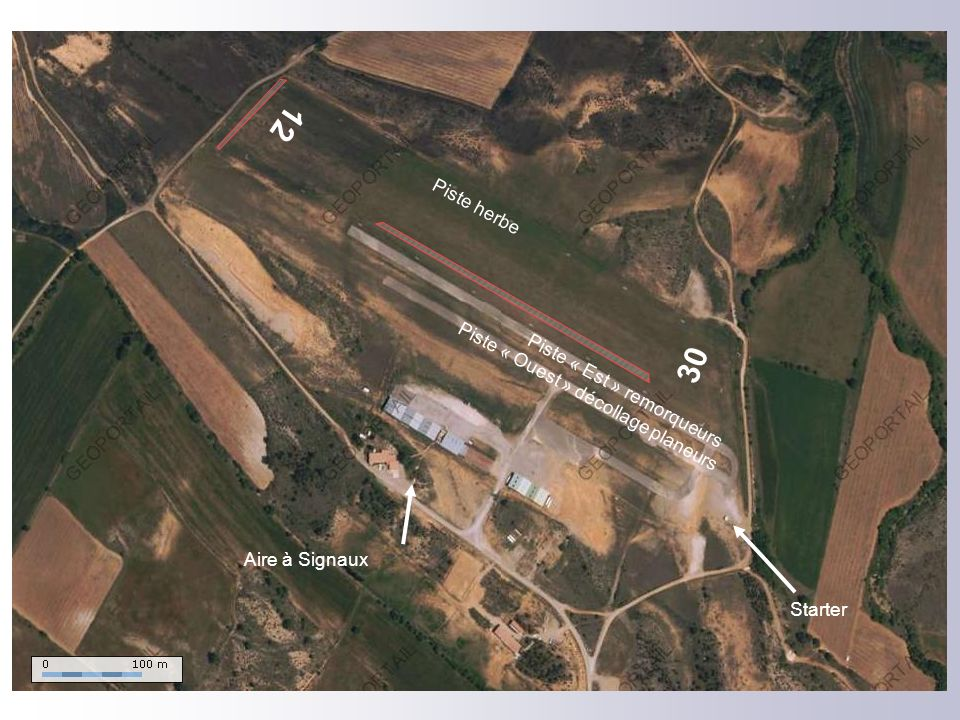 12 30 Piste herbe Piste « Ouest » décollage planeurs
