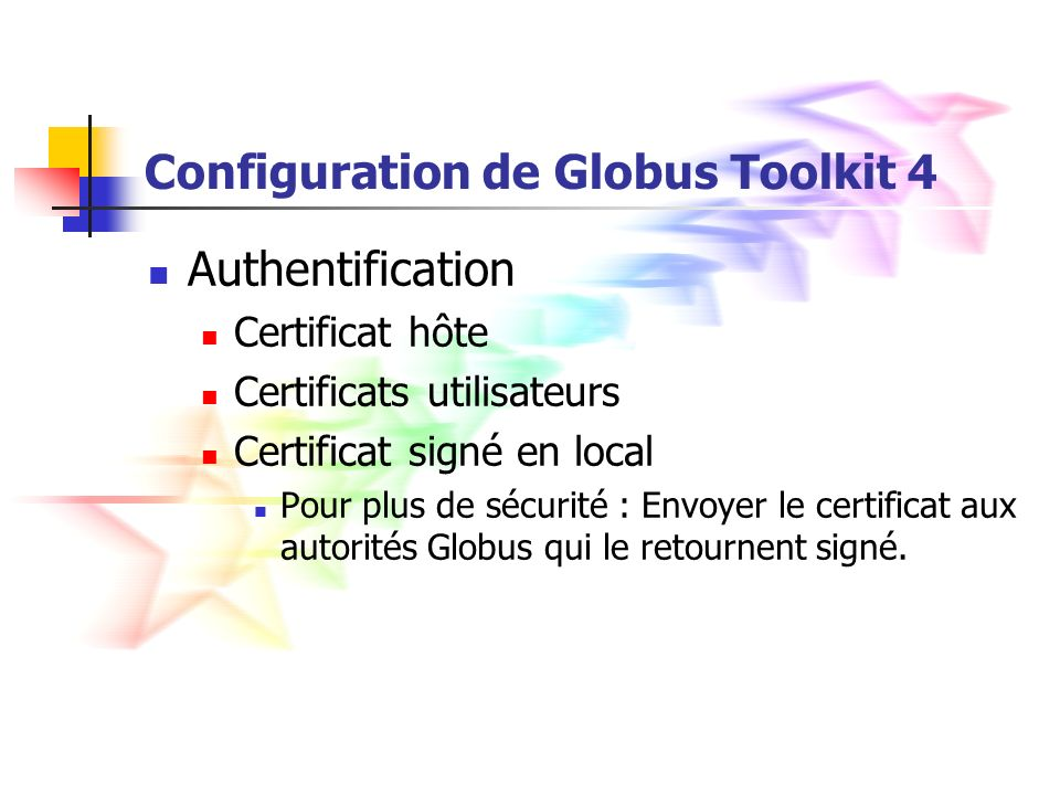 Configuration de Globus Toolkit 4