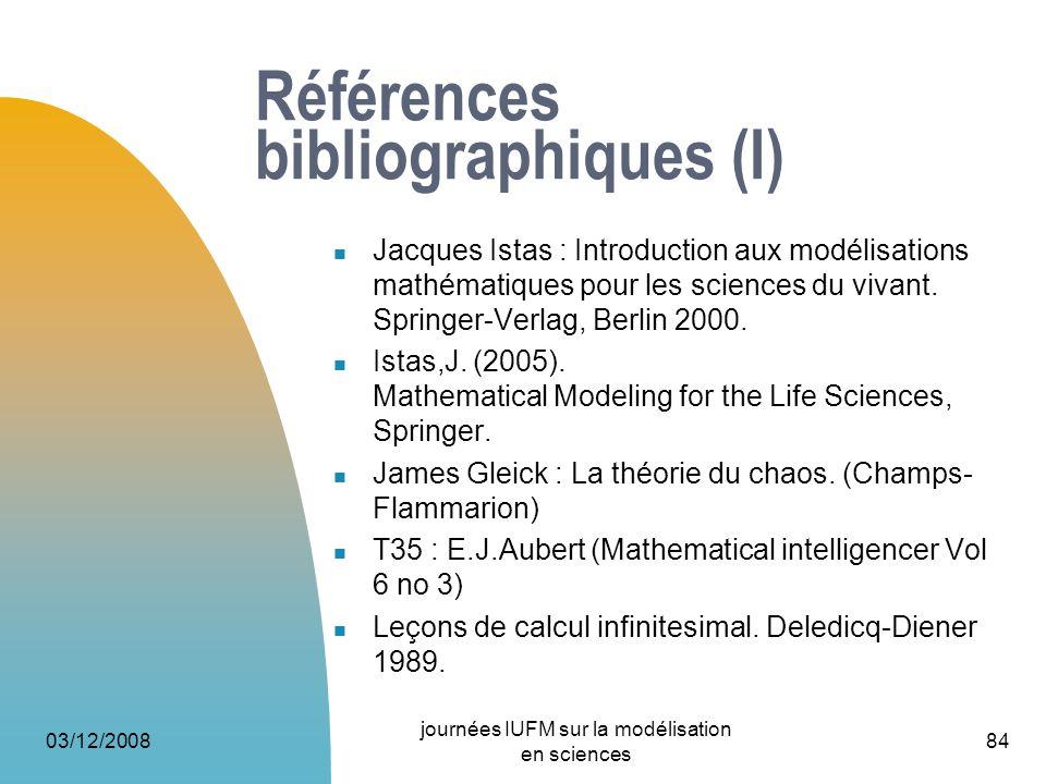 Références bibliographiques (I)
