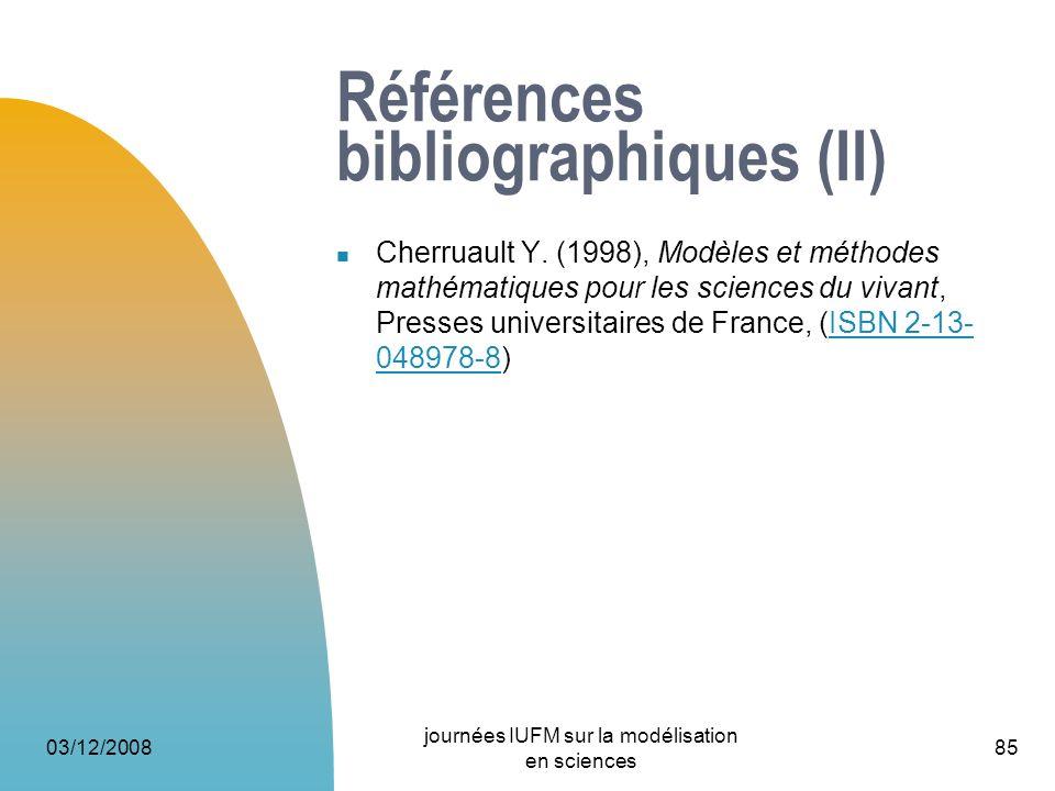 Références bibliographiques (II)