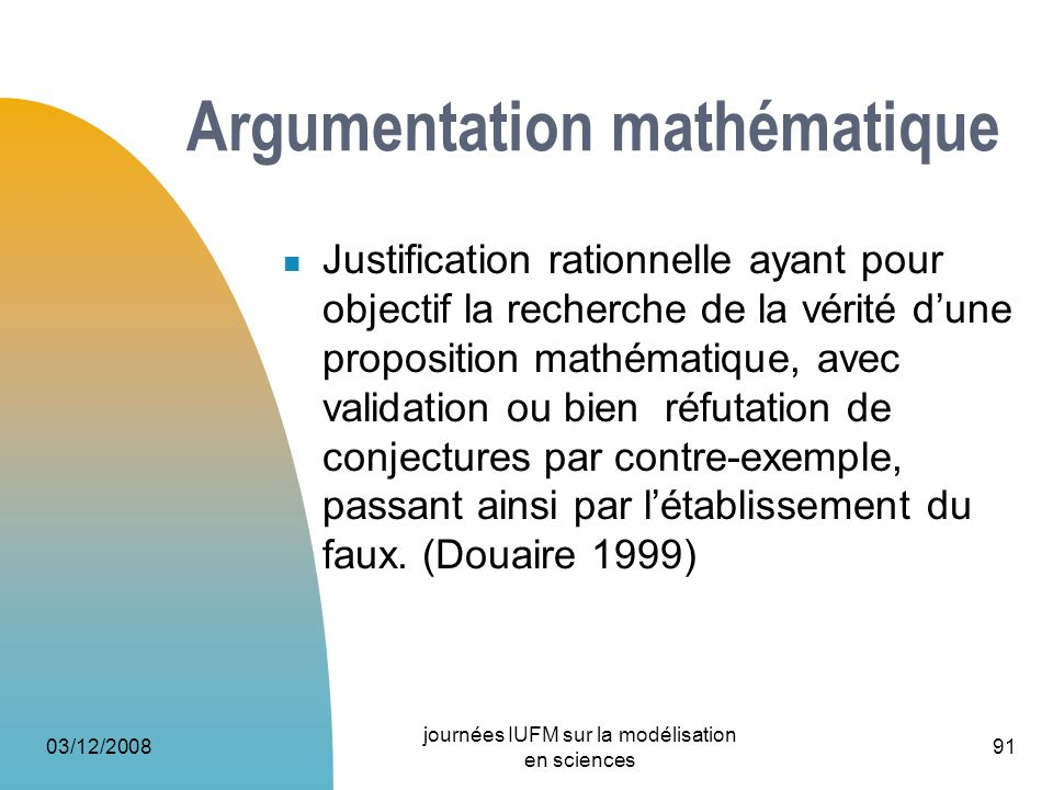 Argumentation mathématique