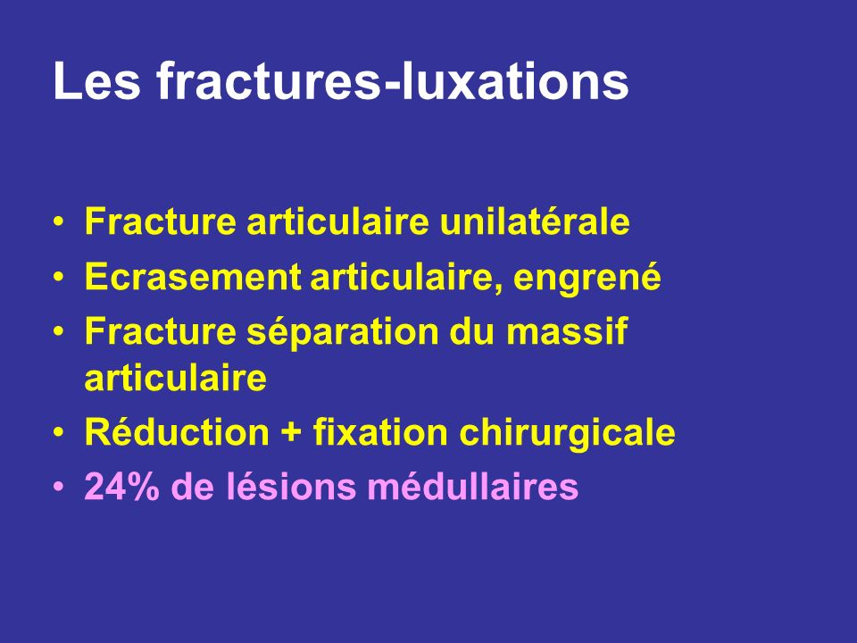 Les fractures-luxations