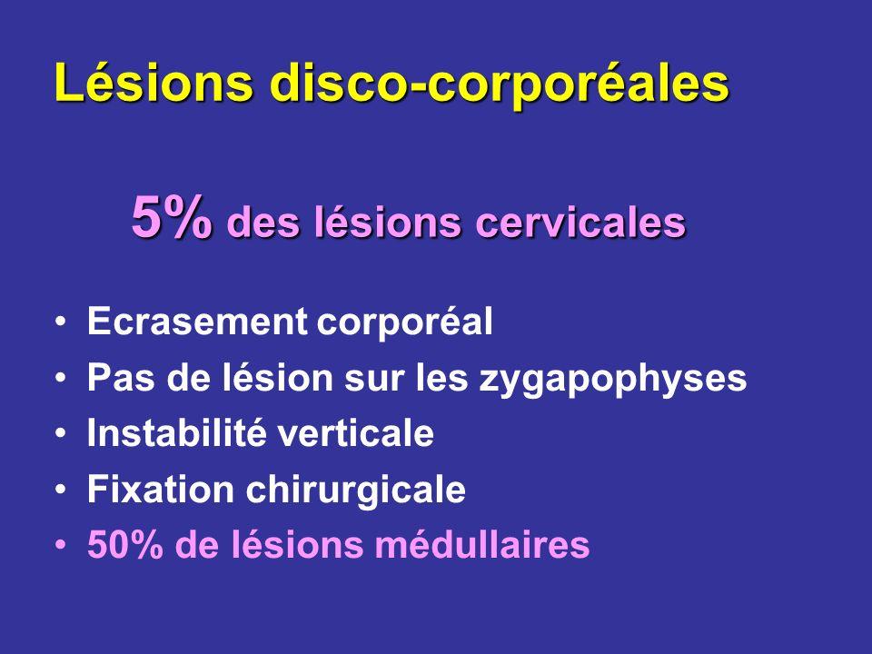 Lésions disco-corporéales