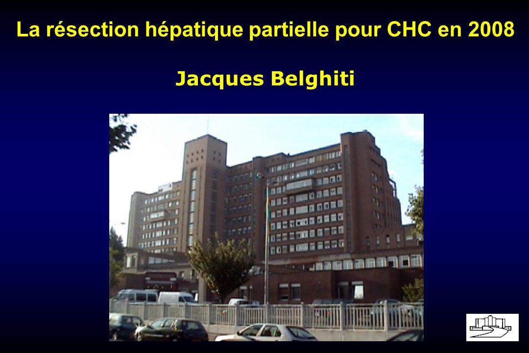 La résection hépatique partielle pour CHC en 2008
