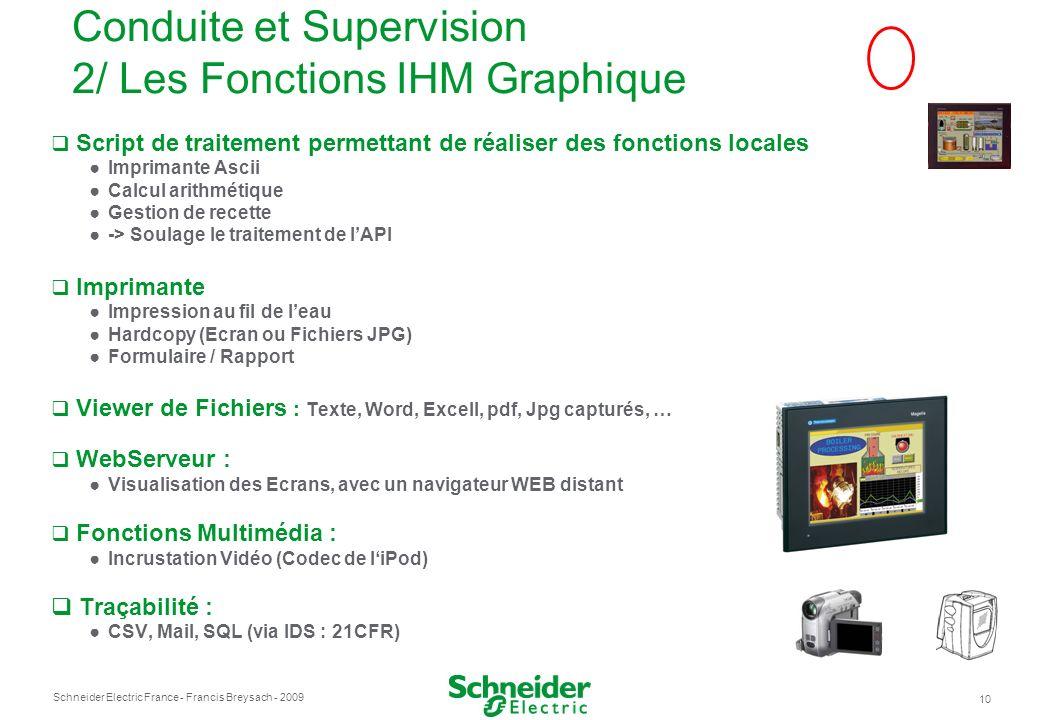 Conduite et Supervision 2/ Les Fonctions IHM Graphique