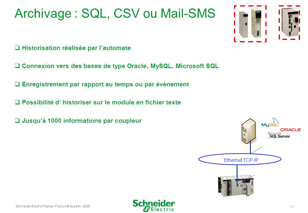 Archivage : SQL, CSV ou Mail-SMS
