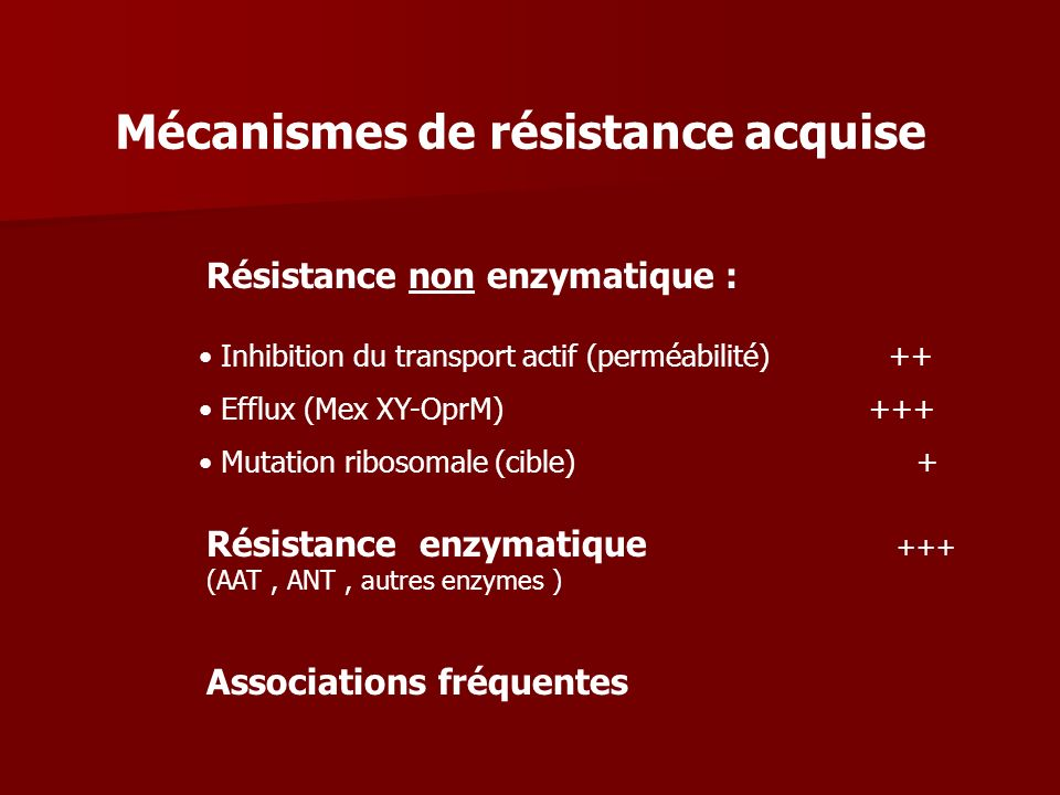 Mécanismes de résistance acquise