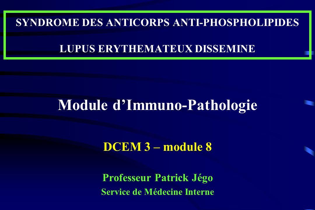 Module d'Immuno-Pathologie