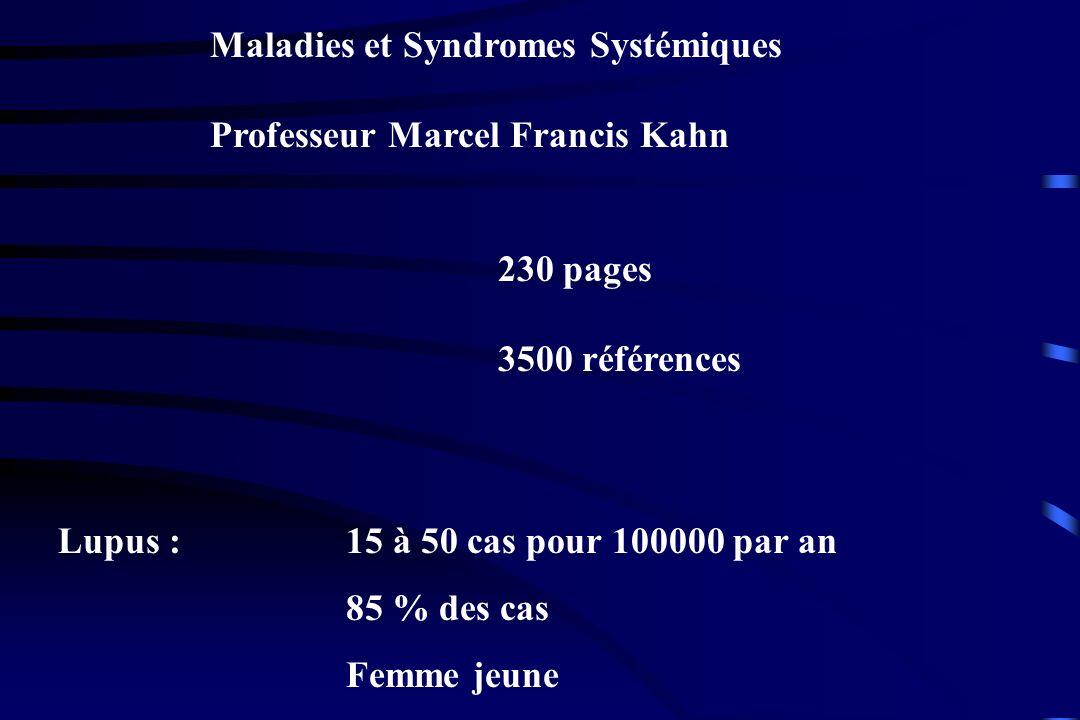 Maladies et Syndromes Systémiques