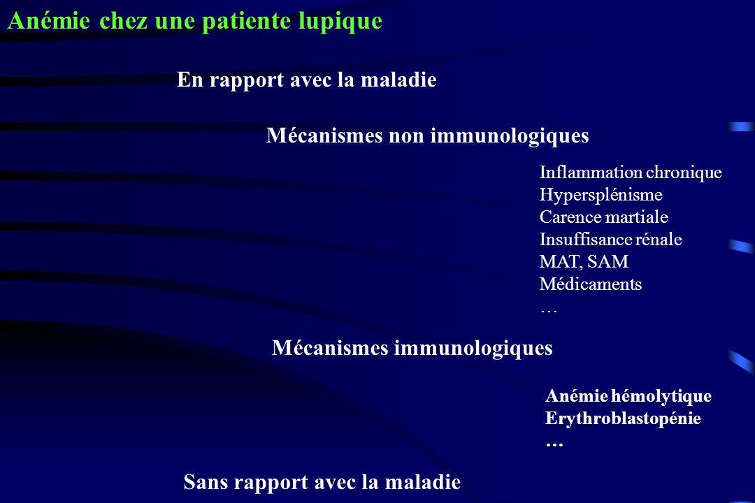 Anémie chez une patiente lupique