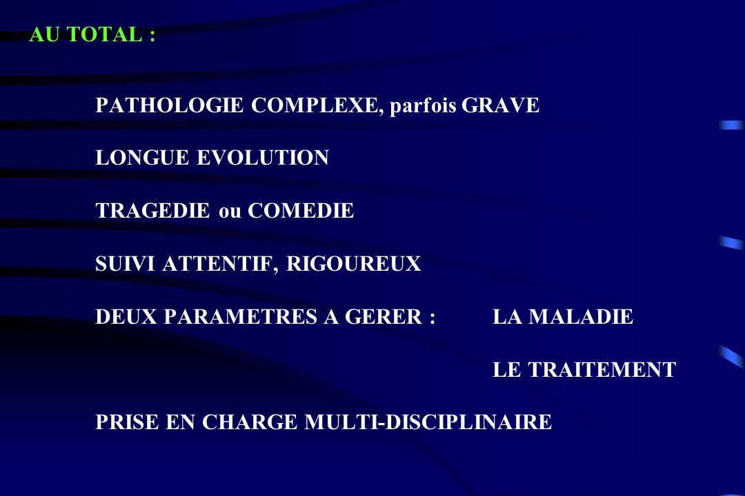 SUIVI ATTENTIF, RIGOUREUX DEUX PARAMETRES A GERER : LA MALADIE