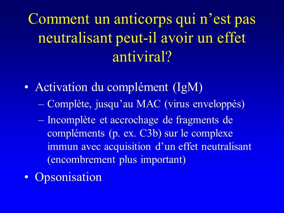 Comment un anticorps qui n'est pas neutralisant peut-il avoir un effet antiviral