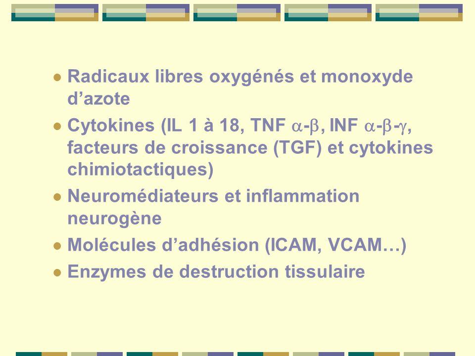 Radicaux libres oxygénés et monoxyde d'azote