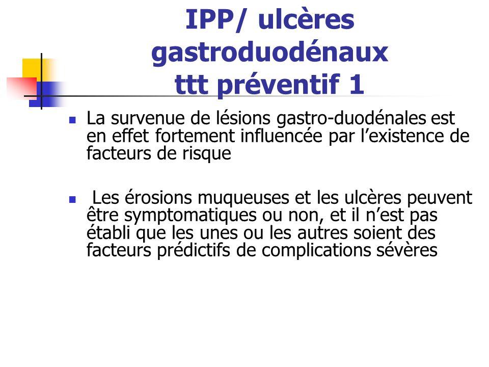 IPP/ ulcères gastroduodénaux ttt préventif 1