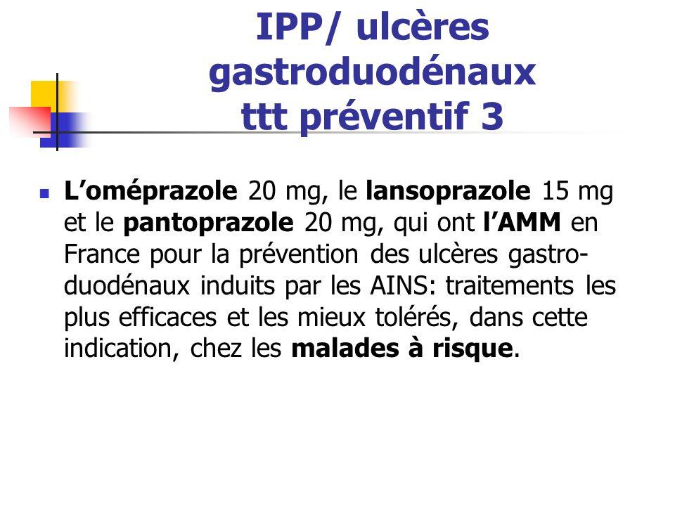 IPP/ ulcères gastroduodénaux ttt préventif 3