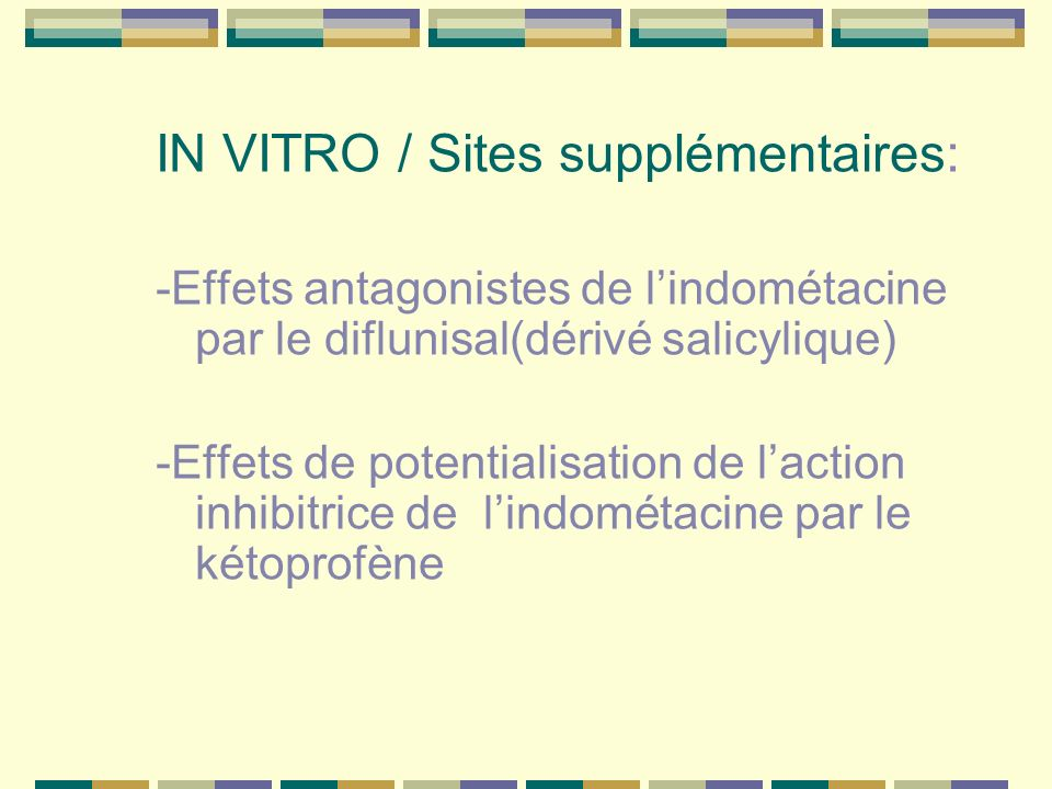 IN VITRO / Sites supplémentaires: