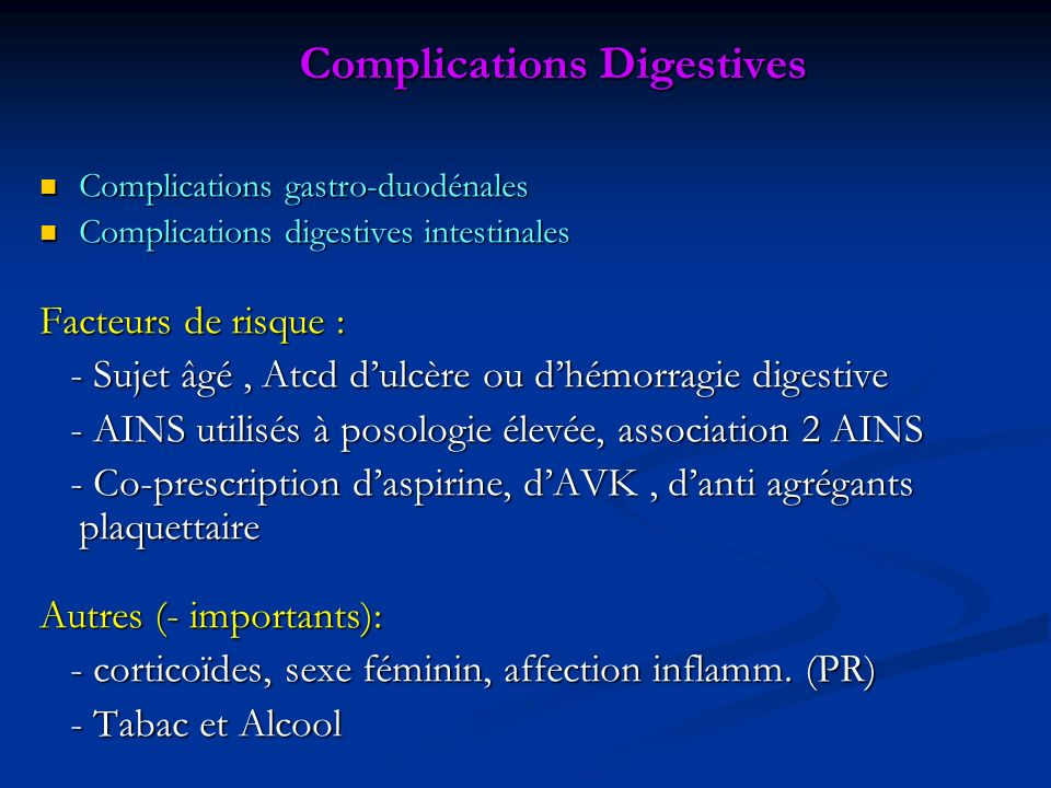 Complications Digestives